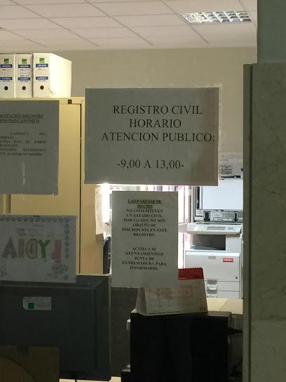 Cita previa registro civil Badajoz
