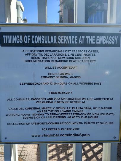 Cita previa Consulado de India en Madrid